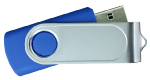 Swivel USB with 1 Side Epoxy Logo 4GB - Dark Blue