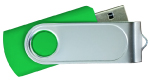 Swivel USB with 1 Side Epoxy Logo 4GB - Green