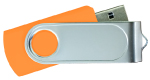 Swivel USB with 1 Side Epoxy Logo 4GB - Orange