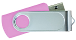 Swivel USB with 1 Side Epoxy Logo 4GB - Pink