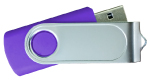Swivel USB with 1 Side Epoxy Logo 4GB - Purple