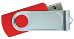 Swivel USB with 1 Side Epoxy Logo 4GB - Red