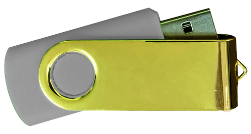 Mirror Shiny Gold Swivel USB 4GB - Grey