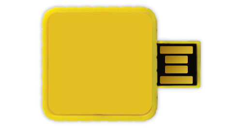 Twister USB - Yellow Color