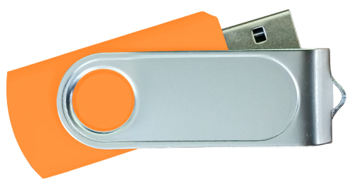 Swivel USB with 2 Sides Epoxy Logo 4GB - Orange