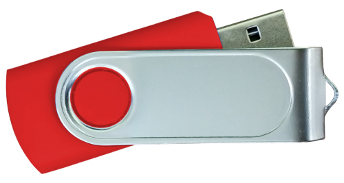 Swivel USB with 2 Sides Epoxy Logo 4GB - Red