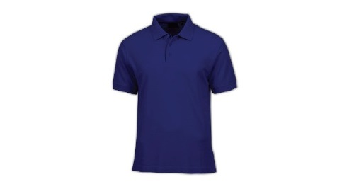 Cotton Polo T-shirt - Dark Blue Color