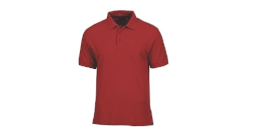 Cotton Polo T-shirt - Red Color