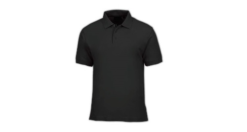 Cotton Polo T-shirt - Black Color