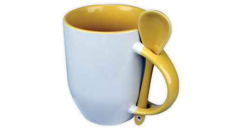 Sublimation 2 tone Mugs - Yellow