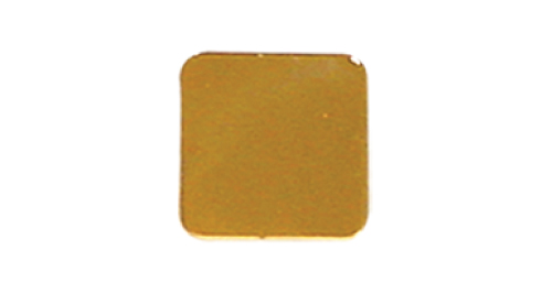 Badge Simple Square 18mm without pin - Gold
