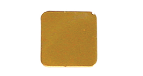 Badge Simple Square 22mm without pin - Gold