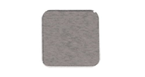 Badge Simple Square 22mm without pin - Silver