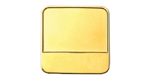 Round Square Badges Gold 2053-G