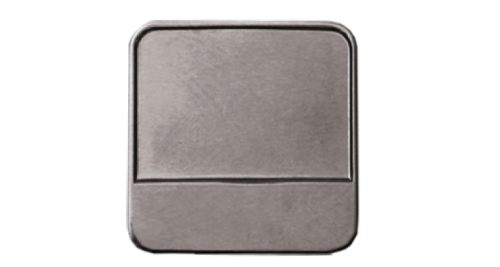 Round Square Badges Silver 2053-N
