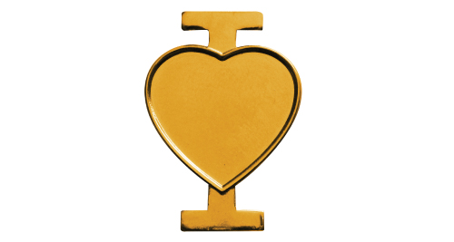 I Love Pin Badge - Gold