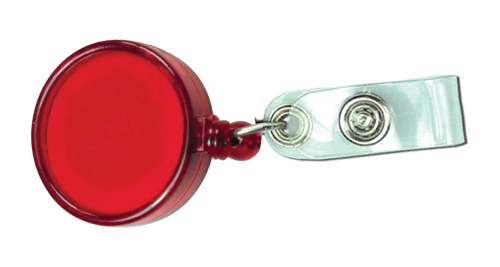 Big Logo Badge Reels - Transparent Red