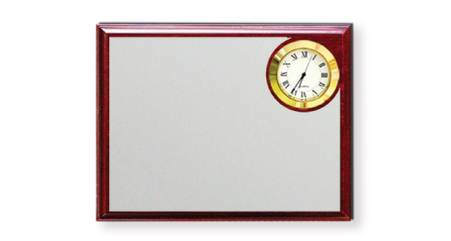Wooden Plaque with clock - 1234-B