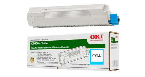 OKI 5650 Laser Printer Toner Cartridge- Cyan