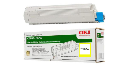 OKI 5650 Laser Printer Toner Cartridge-Yellow