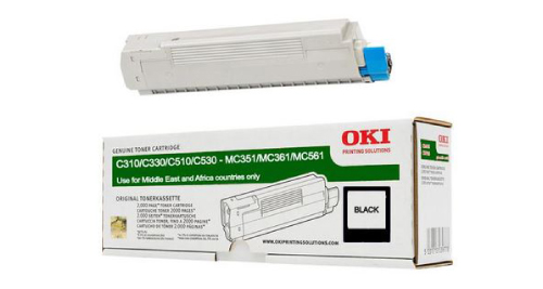 OKI C310 Laser Printer Toner Cartridge - Black