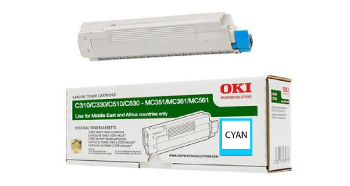 OKI C310 Laser Printer Toner Cartridge - Cyan
