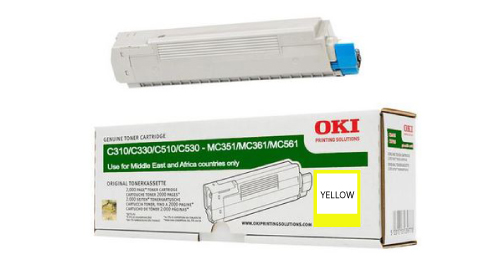 OKI C310 Laser Printer Toner Cartridge - Yellow
