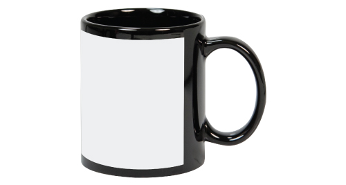 Sublimation Coated 11 oz Black Mug with White printable area for full color printing