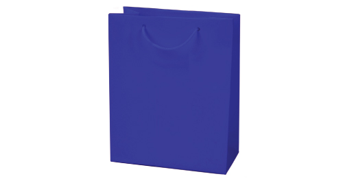Laminated  Paper Shopping Bag A4 Size - Blue Color