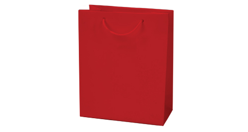 Laminated  Paper Shopping Bag A4 Size - Red Color
