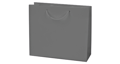 Laminated  Paper Shopping Bag A3 Size - Silver Color