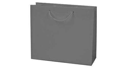 Laminated  Paper Shopping Bag A4 Size - Silver Color
