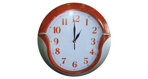 Promotional Wall Clocks - Silver & Brown