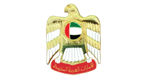 UAE Falcon Badges 3D Shape