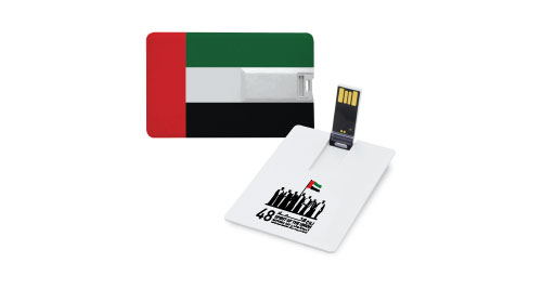 National Day Card shaped USB 4GB