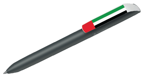 Pen with National Day Logo - Black